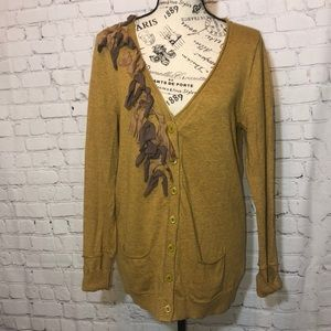 Anthropologie Sparrow Cardigan Sweater Ribbons